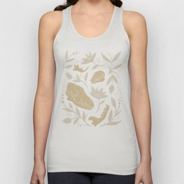Forest Floor - Gold Unisex Tank Top