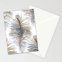 Ostrich Gold Stationery Cards