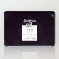 haunted mansion iPad Cases featuring Haunted Mansion Fastpass by margybear