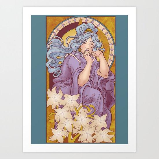 Chronos II Nouveau Art Print