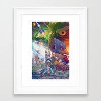 starfox Framed Art Prints featuring Starfox Universe by Robaato