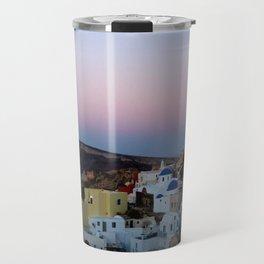 Dawn of Santorini Greece Travel Mug