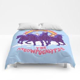 Four Horsemittens Of The Meowpocalypse Comforters