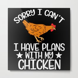 Farmer Chicken Wings Lay Eggs Goose Tee Metal Print