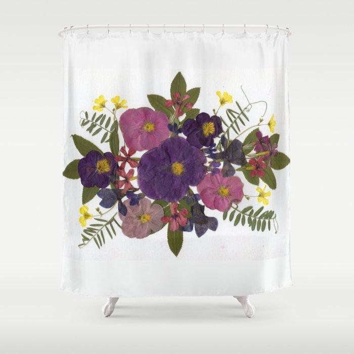 Purple Pansies Shower Curtain By Alind42