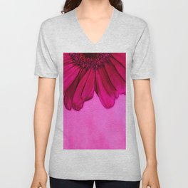 Pretty In Pink Flower Unisex V-Neck