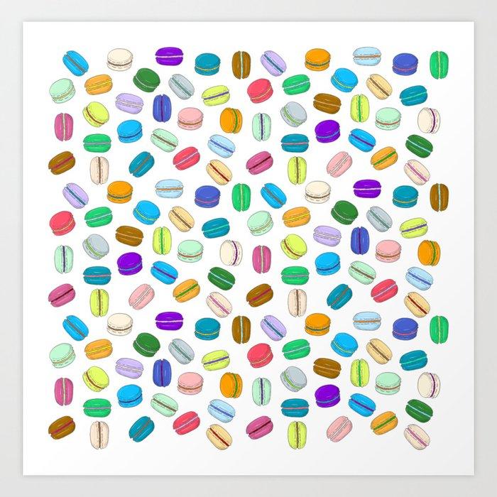 Macaron Pattern Kunstdrucke