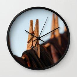 Washing line Wall Clock