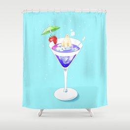 Polar Bear in Cocktail Shower Curtain