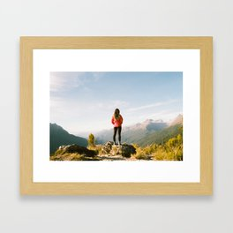 On Top of the World Framed Art Print