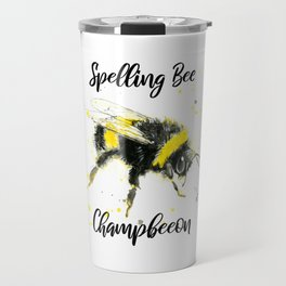 Spelling Bee Champbeeon - Punny Bee Travel Mug