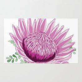 Pink Waratah - Australian Wildflower Rug