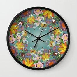 Encircled Garden (Light Teal) Wall Clock