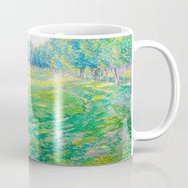 Václav Radimský (1867-1946) On the Dike Colorful Impressionist Landscape Oil Painting Coffee Mug