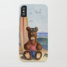 Surfer Bear iPhone X Slim Case