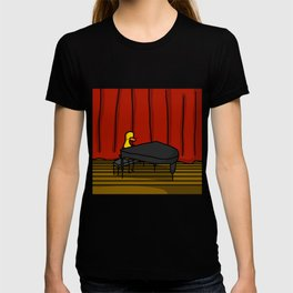 Ducky Pianist | Veronica Nagorny T-shirt