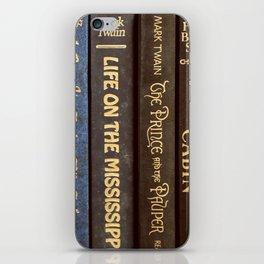 Old Books - Square Twain iPhone Skin
