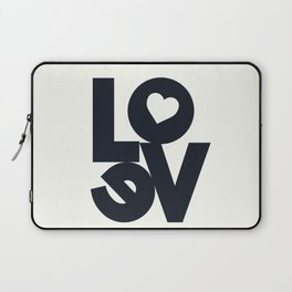 Love, tyopgraphy illustration, gift for her, people in love, be my Valentine, Romantic lettering Laptop Sleeve