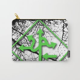 Arrows - Green Carry-All Pouch