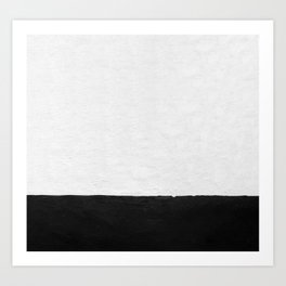 Painted Wall - Black on White Art Print