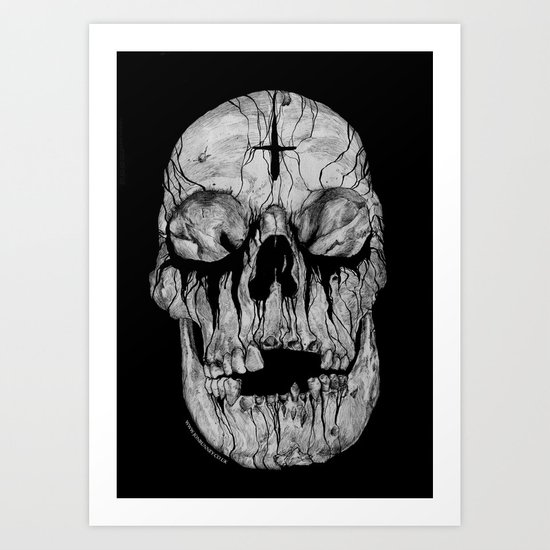 Black blooded Art Print