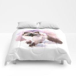 Watercolor Siamese Cat Comforters