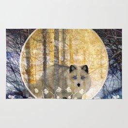 Silver Fox Golden Moon Rug