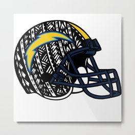 Poly Tribal Chargers Metal Print