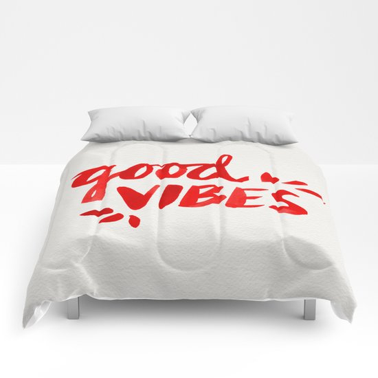 Good Vibes – Red Ink Comforters