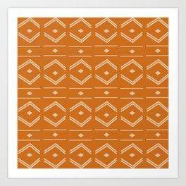 Lines in Butterscotch Art Print