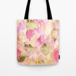 Gold Tulips Tote Bag