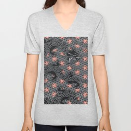 Hidden Dragon / Oriental dragon design Unisex V-Neck