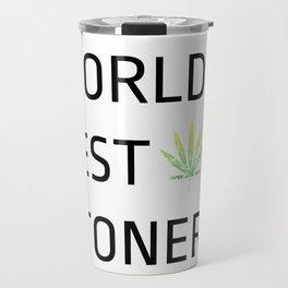 World's Best Stoner - Weed Marijuana Mary Jane Kemp Stoner Blaze It Travel Mug