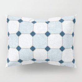 Sky Blue Classic Floor Tile Texture Pillow Sham