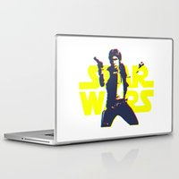 han solo Laptop & iPad Skins featuring Solo by Aaron Johnson Design