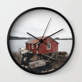 Palafitte in Norway Wall Clock
