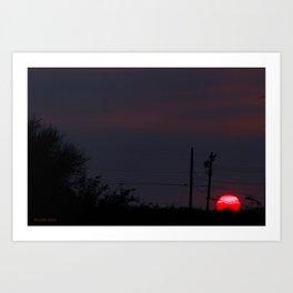 Run Sun  Art Print