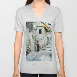 Glimpse with staircase Unisex V-Neck