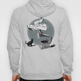 The Cat and the Song Cat (black and white) Hoody