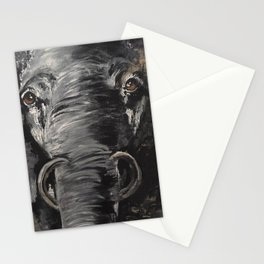 Bold and Serious Elephant Stationery Cards