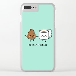We go together like... Clear iPhone Case