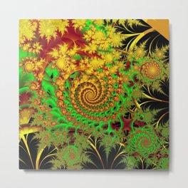 Swirls and Spirals Metal Print