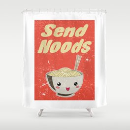 Send Noods Vintage Ramen Noodles Japanese Food Gift For Foodies Shower Curtain