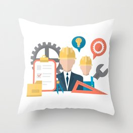 Life Of A Contractor Throw Pillow