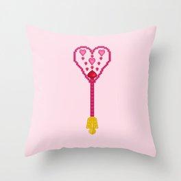 Gorgeous Heart-Dancing Scepter Throw Pillow