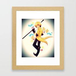 Smile Pine Tree! Framed Art Print
