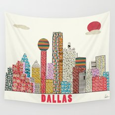 dallas skyline  Wall Tapestry