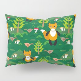 Fox and birds in the forest Pillow Sham