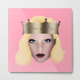 Queen of Pop Metal Print