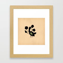 Louisiana - State Papercut Print Framed Art Print